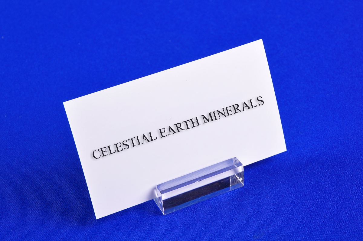"ID HOLDER 1 1/4""X 1"" FOR MINERAL IDENTIFICATION TAGS - Celestial Earth Minerals"
