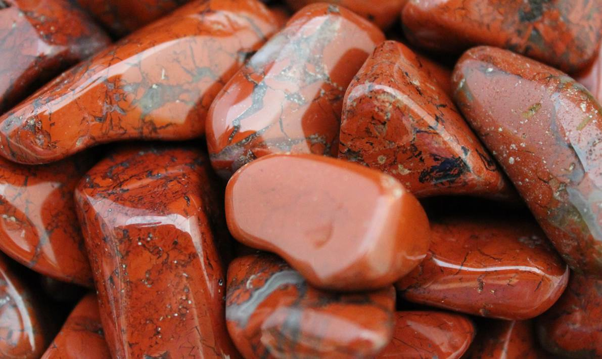 Brecciated Red Jasper Tumbled Gem Stone Celestial Earth